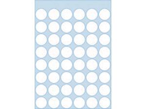 Afbeelding van Herma etiket rond, 12 mm, verpakking 240 stuks, 1860, wit