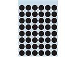 Afbeelding van Herma etiket rond, 12 mm, verpakking 240 stuks, 1869, zwart