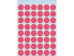 Afbeelding van Herma etiket rond, 12 mm, verpakking 240 stuks, 1866, fluor rood