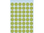 Afbeelding van Herma etiket rond, 12 mm, verpakking 240 stuks, 1868, fluor groen