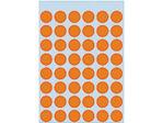 Afbeelding van Herma etiket rond, 12 mm, verpakking 240 stuks, 1864, fluor oranje