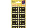 Afbeelding van Zweckform etiket, 12 mm, verpakking 270 stuks, 3140, zwart
