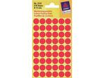 Afbeelding van Zweckform etiket, 12 mm, verpakking 270 stuks, 3141, rood