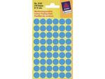 Afbeelding van Zweckform etiket, 12 mm, verpakking 270 stuks, 3142, blauw