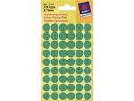 Afbeelding van Zweckform etiket, 12 mm, verpakking 270 stuks, 3143, groen