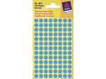 Afbeelding van Zweckform etiket, 8 mm, verpakking 416 stuks, 3011, blauw