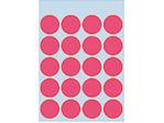 Afbeelding van Herma etiket rond, 19 mm, verpakking 100 stuks, 1876, fluor rood