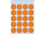 Afbeelding van Herma etiket rond, 19 mm, verpakking 100 stuks, 1874, fluor oranje