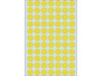 Afbeelding van Herma etiket rond, 13 mm, verpakking 2464 stuks, 2231, geel