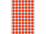 Afbeelding van Herma etiket rond, 13 mm, verpakking 2464 stuks, 2232, rood