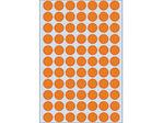 Afbeelding van Herma etiket rond, 13 mm, verpakking 1848 stuks, 2234, fluor oranje