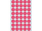 Afbeelding van Herma etiket rond, 19 mm, verpakking 960 stuks, 2256, fluor rood