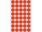 Afbeelding van Herma etiket rond, 19 mm, verpakking 1280 stuks, 2252, rood