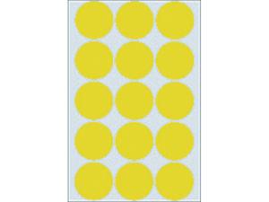 Afbeelding van Herma etiket rond, 32 mm, verpakking 480 stuks, 2271, geel