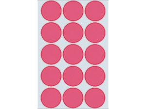 Afbeelding van Herma etiket rond, 32 mm, verpakking 360 stuks, 2276, fluor rood