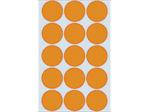 Afbeelding van Herma etiket rond, 32 mm, verpakking 360 stuks, 2274, fluor oranje