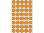 Afbeelding van Herma etiket rond, 19 mm, verpakking 960 stuks, 2254, fluor oranje