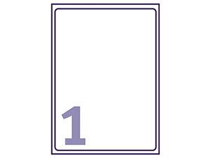 Afbeelding van Avery etiket, 199.6 x 289.1 mm, verpakking 25 stuks, j8167-25