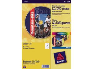 Afbeelding van Avery etiket cd, verpakking 50 stuks, fotokwaliteit, c9660-25, hoogglans