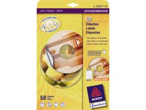 Afbeelding van Zweckform etiket cd wit, verpakking 50 stuks, l6015-25, wit