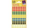 Afbeelding van Zweckform etiket, 8 mm, verpakking 416 stuks, rond, assortiment, 3090