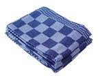 Afbeelding van Office theedoek, 70 x 70 cm, geblokt, 53477, blauw/wit, katoen set a 6 stuks