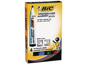 Afbeelding van Bic viltstift 1704, 1.3 mm, whiteboard, rond, assorti, 904941