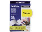 Afbeelding van Brother labeltape, 9 mm x 8 meter, tze-621, geel/zwart