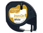 Afbeelding van Dymo labeltape letratag, 12 mm x 2 meter, s0718850, wit/zwart