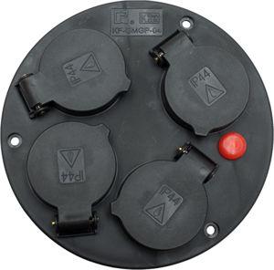 Afbeelding van Kelfort contactplaat, 4 contactdozen, t.b.v. kabelhaspel er500