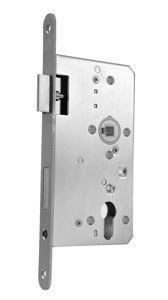 Afbeelding van Dom deurslot, 60 mm, dag en nacht, links / rechts, pc72, met glijschoot, zonder sluitplaat, rvs