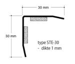 Afbeelding van Hoekbeschermer, 30 x 30 x 1 mm, 1.5 meter, aisi 304, zelfklevend, mat geslepen, rvs