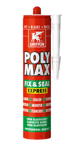 Afbeelding van Griffon Montagelijm Poly Max® Fix & Seal Express Wit Koker 425 g