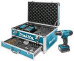 Afbeelding van Makita boorschroefmachine 14,4v 1.5ah met aluminium koffer en 59 delige set.