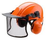 Afbeelding van 3m peltor helmcombinatie oranje, G3000 helm, optime II gehoorkap, v5j vizier.