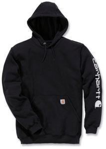 Afbeelding van Carhartt hooded sweater zwart