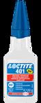 Afbeelding van Loctite snellijm 401, 20 gram, cyaanacrylaat
