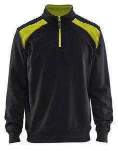 Afbeelding van Blaklader sweater 3353 zwart/fluor geel