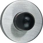 Afbeelding van Oxloc deurbuffer, mat rvs, 22x30mm., wandmontage