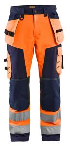 Afbeelding van Blaklader broek softshell 1567 fluor oranje/marine