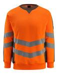 Afbeelding van Mascot sweatshirt wigton fluor oranje/donker antraciet