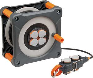 Afbeelding van Brennenstuhl Cube kabelhaspel met powerblock 33 + 5 meter H07RN-F 3G1,5mm2  IP44