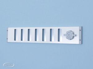 Afbeelding van Gavo schuifrooster, 500 x 95 mm, wit, aluminium