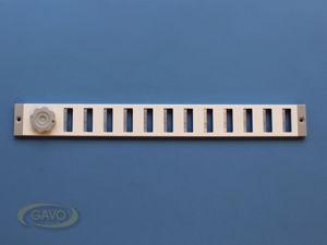 Afbeelding van Gavo schuifrooster, 37 x 4 cm, wit, aluminium