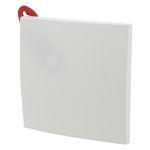 Afbeelding van Plafondplaat vierkant 110 x 110 mm wit