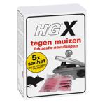 Afbeelding van HGX navulling muizenlokdoos, doos a 5 sachet 50 gram