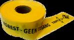 Afbeelding van Afzetband asbest zwart/geel 500mx10cm