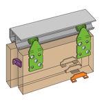 Afbeelding van Henderson Schuifdeurgarnituur Double Top