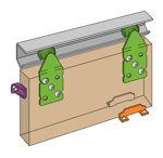 Afbeelding van Henderson Schuifdeurgarnituur Single Top